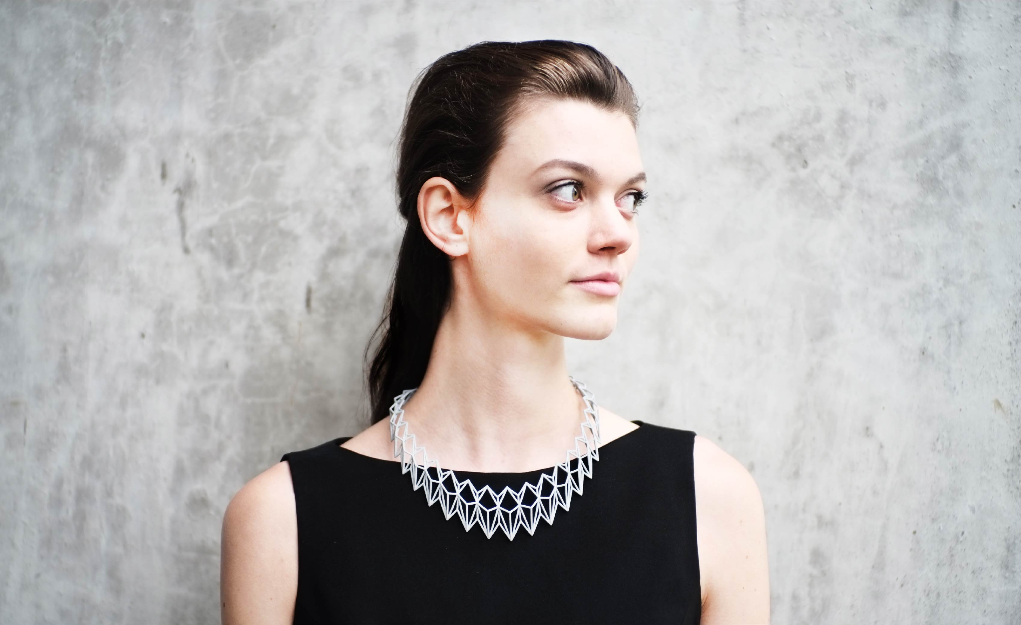Rhombus 3D printed necklace