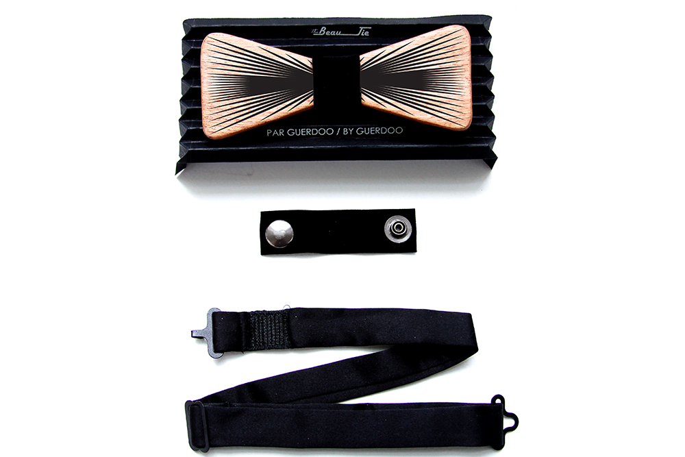 Wood Bow Tie | Bow Tie | Reversible Model B | BL