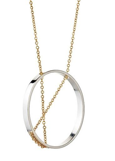 INNER CIRCLE NECKLACE IN STERLING SILVER AND GOLD