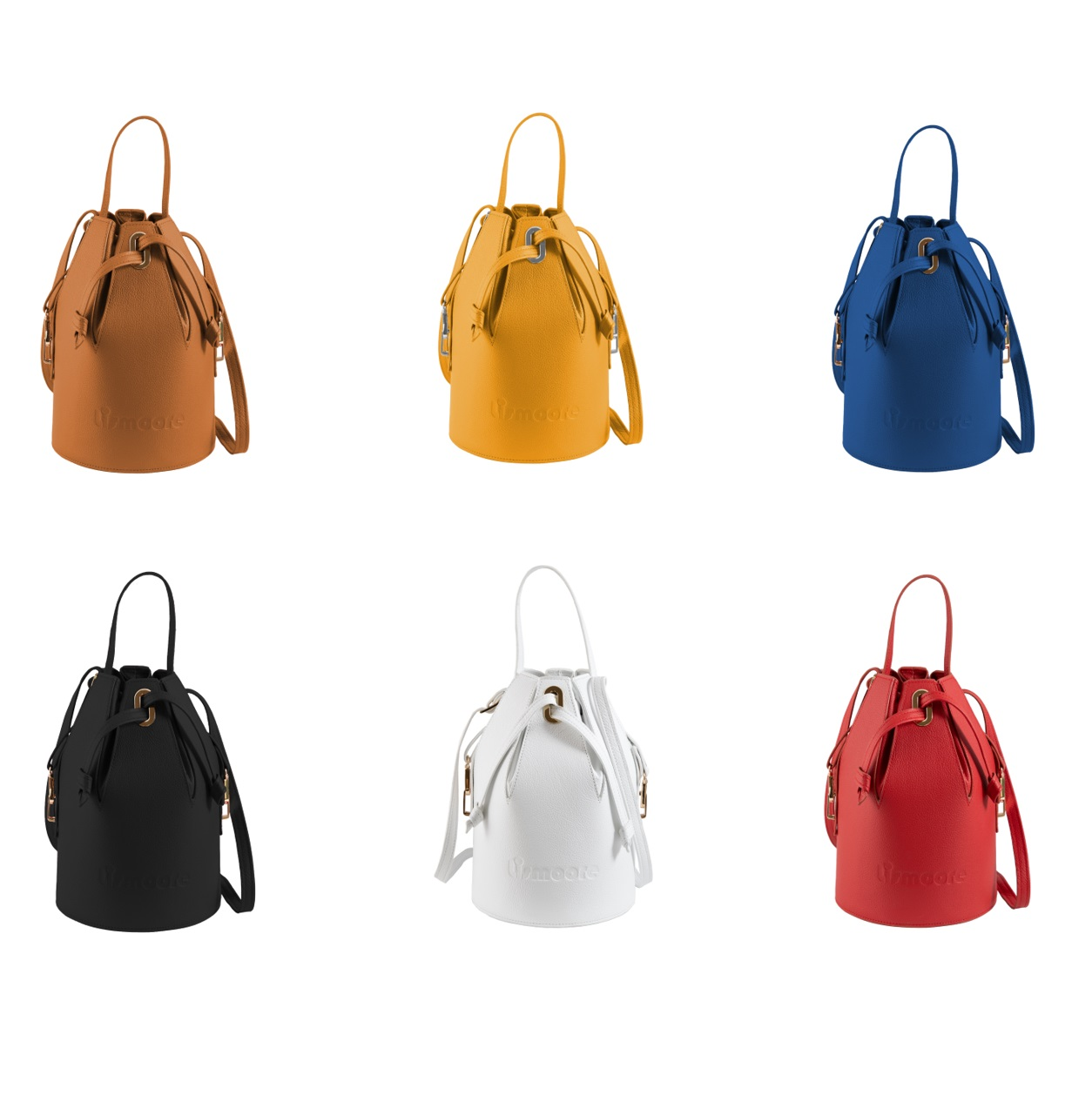 Vicky in six leather colors