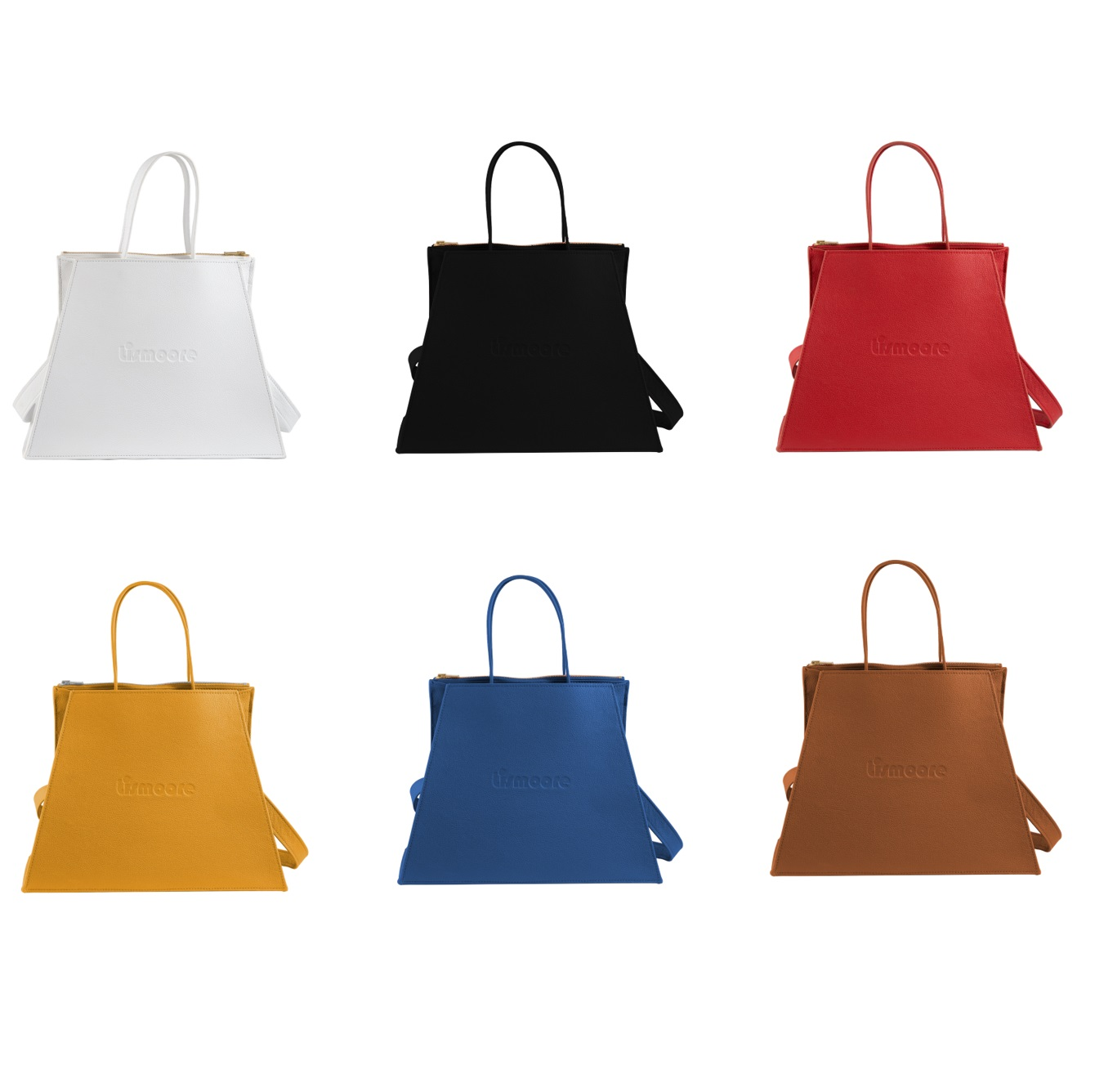 Catherine in six leather colors