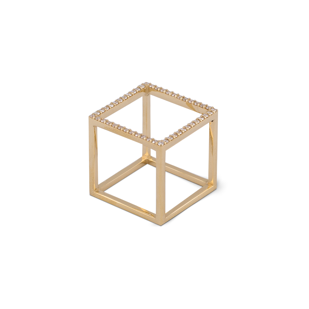 Cube Ring-Gold