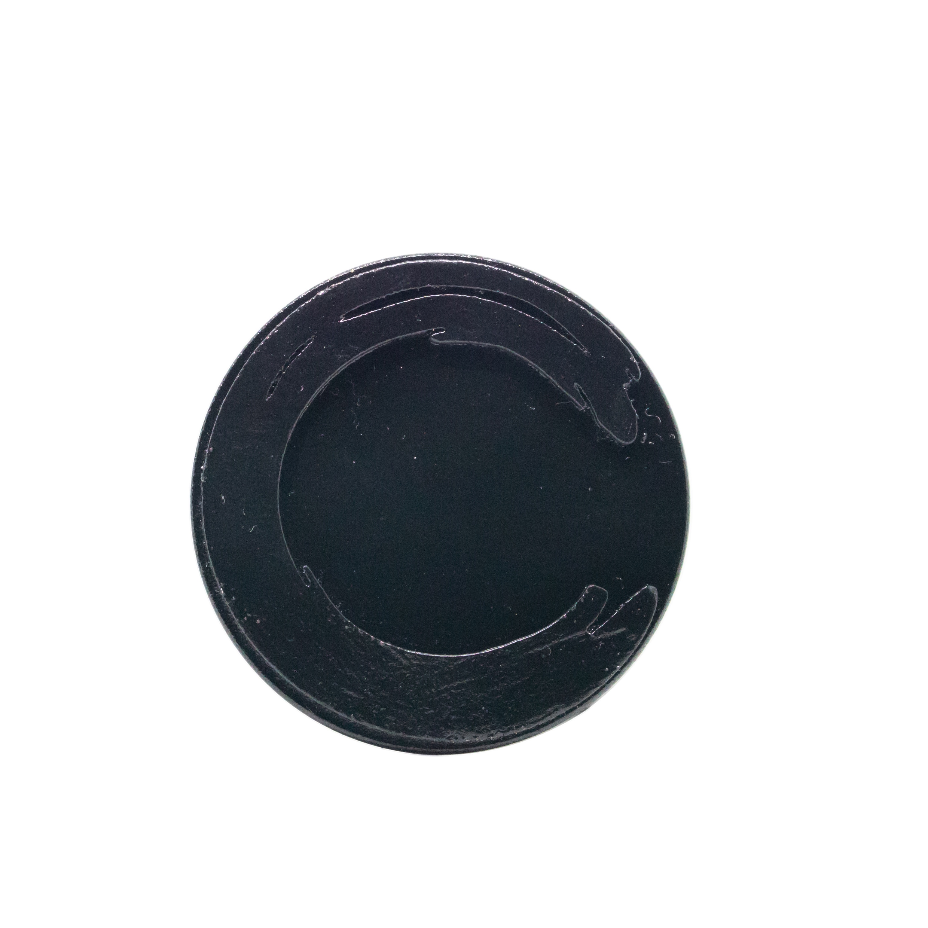 Hand Dyed limited Edition Enso Black Brooch No.3