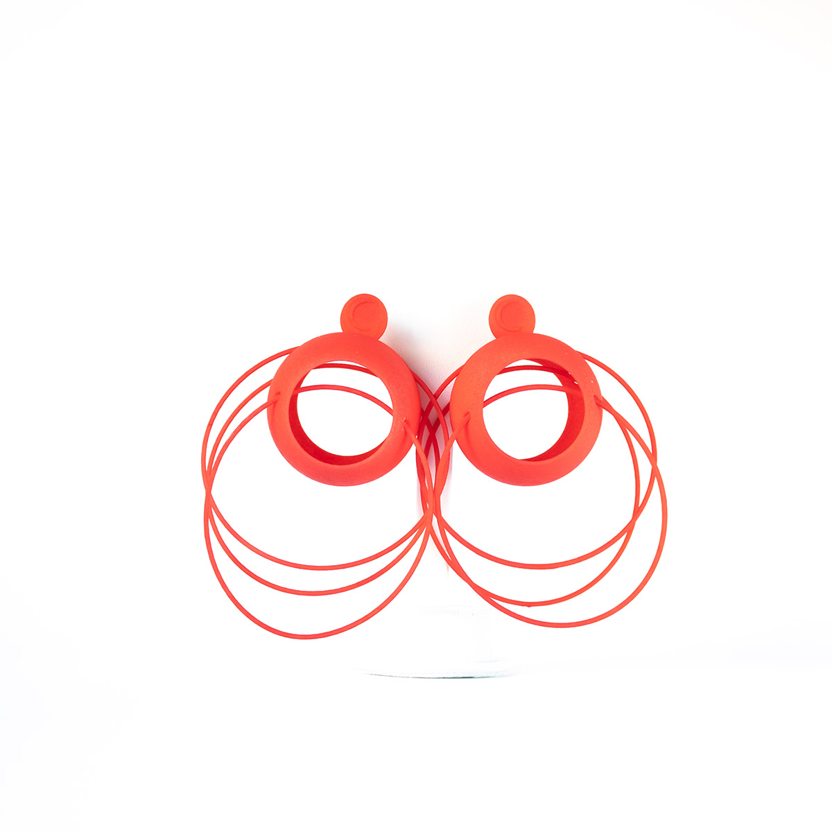 Lolita Earrings in red with silver 925
