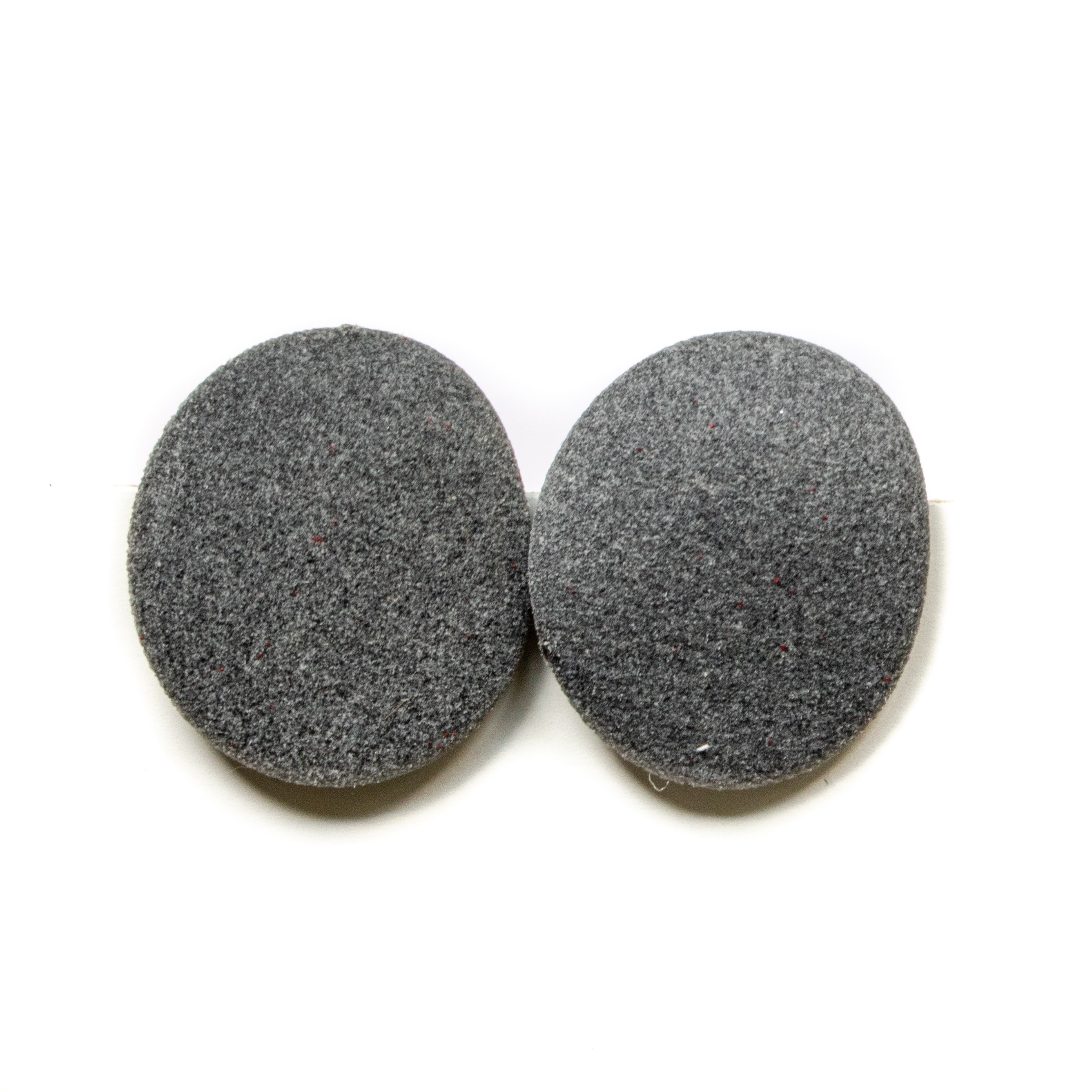 Minimal earrings Grey with silver 925