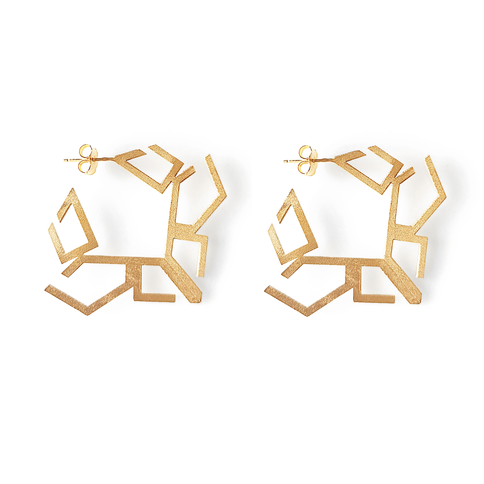 Earrings   Sterling Silver Gold Plated