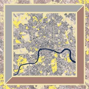 London overlaid - Yellow City Scarf