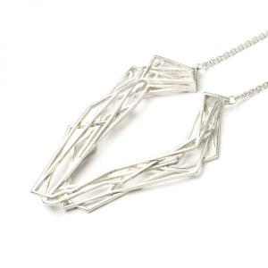 Solitaire necklace, 925 silver