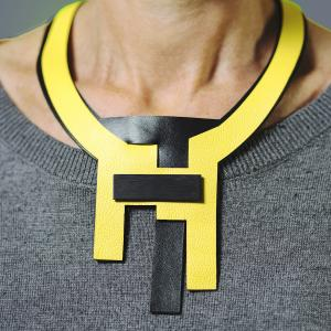 Paranoid Android modular necklace leather
