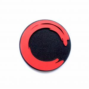 Hand Dyed limited Edition Enso Red Brooch No.1
