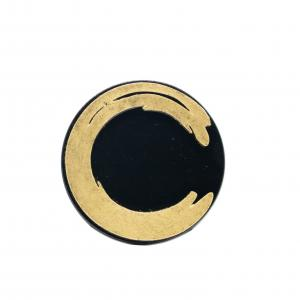 Hand Dyed limited Edition Enso Gold Brooch No.2