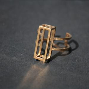 Recto 3D Printed Bronze Ring