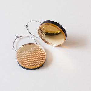 Dual Earrings -Circle