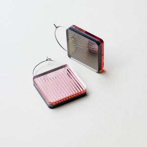Dual Earrings -Square