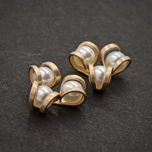 Aster Pearl Post Earrings - 14K Gold