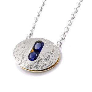 Orbit Necklace with Sapphires
