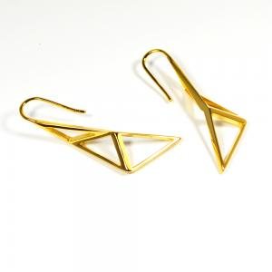 sWINGS STRUCTURA Earrings 18k Gold Plated Brass