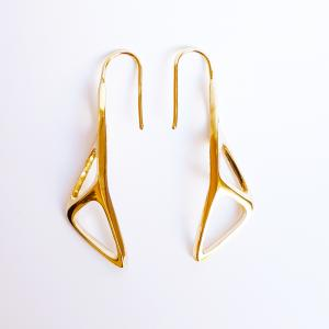 sWINGS STRUCTURA Earrings ″SOFT″ 18k Gold Plated