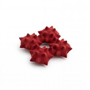 Superorder leather red brooch
