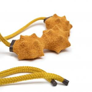 Superorder yellow leather necklace