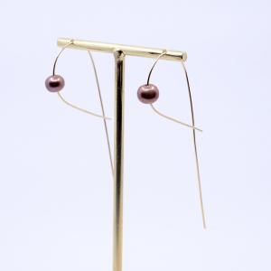 Wire Collection _ Earrings with pearl