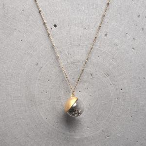 Moon Twinkle Collection _ Pendant Necklace (grey)