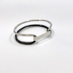 Twist Collection _ Unisex Bangle Bracelet black