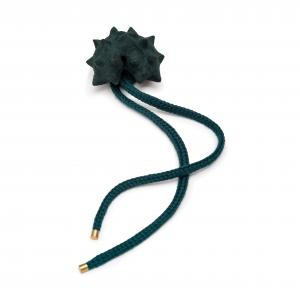 Superorder green leather brooch