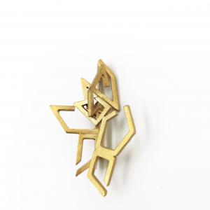 Brooch | Gold plated Sterling Silver| Handmade